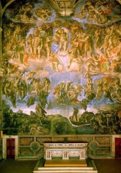 last judgment michaelangelo