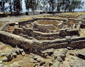 Beneath the foundations of this octagonal Byzantine martyrium church at Capernaum, archaeologists made one of the most exciting Biblical archaeology discoveries: a simple first-century A.D. home that may have been the house of Peter, the home of Jesus in Capernaum. Photo: Garo Nalbandian