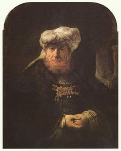 The King Uzziah Stricken with Leprosy, by Rembrandt, 1635.
