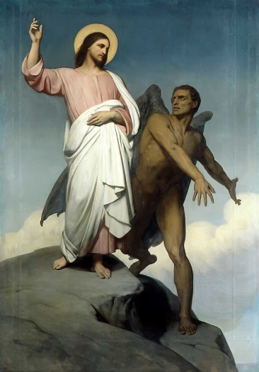 The Temptation of ChristAry Scheffer, 1854
