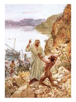 Jesus and he Demoniac